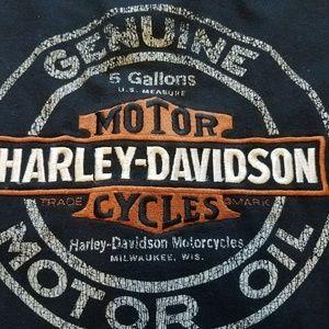 Men's Vintage Harley Davidson Long Sleeve Tee D